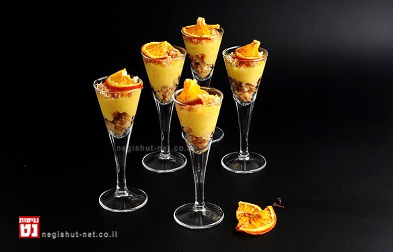 קרם תפוזים אישי ופלחי הדרים מיובשים עם מיץ תפוזים מתוצרת 'פרימור' (צילום: יולה זובריצקי).