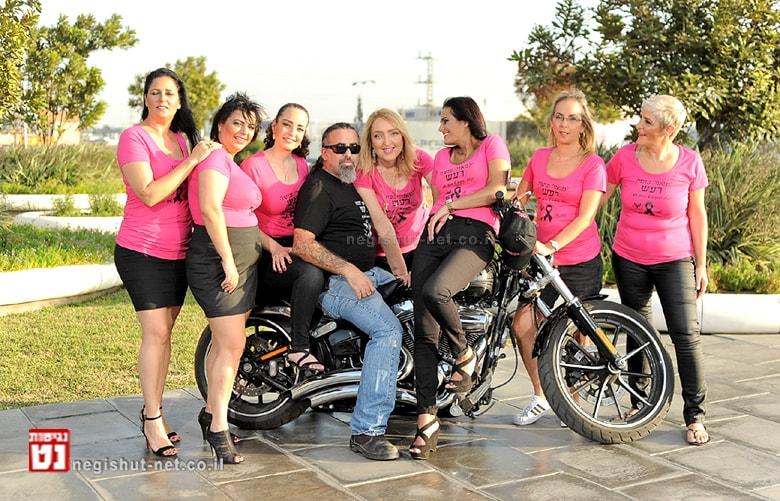 מסע אופנועים להגברת המודעות לגלוי מוקדם של סרטן השד | צילום: סטודיו R רמי נחום