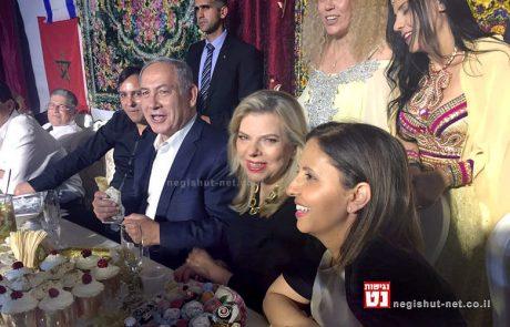 ראש הממשלה ורעייתו בחגיגות המימונה ב-יבנה